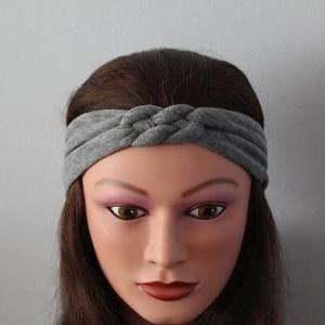grey Knotted Jersey Headband, T-Shi..