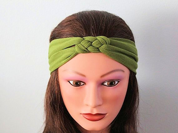 Green Knotted Jersey Headband 260fce03a97