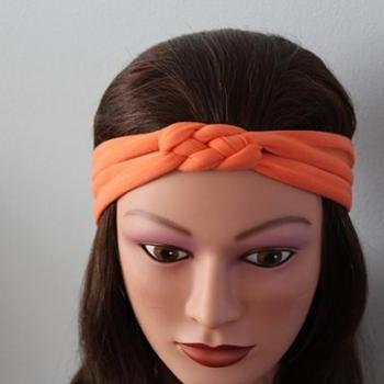 orange  Knotted Jersey Headband, T-Shirt Headband, Sailor's Knot Headband, Yoga Headband, orange hairband